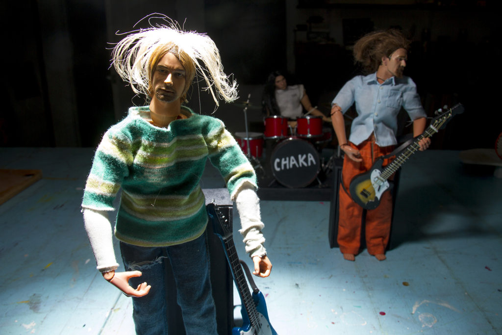 John Johnston's miniature and finely detailed version of Nirvana. (Kevin J. Beaty/Denverite)  denver; denverite; colorado; art; nirvana; kurt cobain; music;