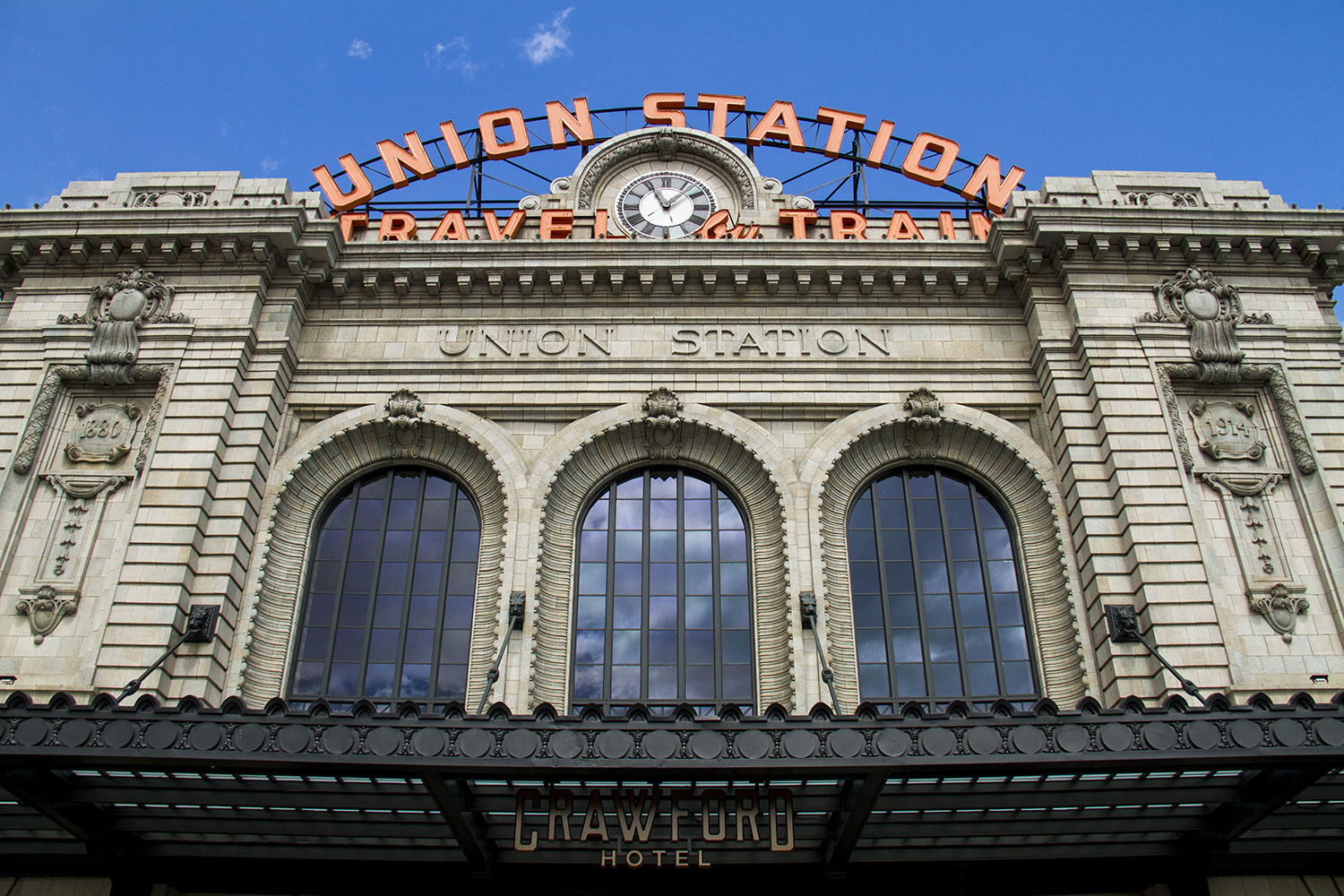 Denver's Union Station  denver; colorado; downtown; lodo; denverite; transportation; union station; landmark; train