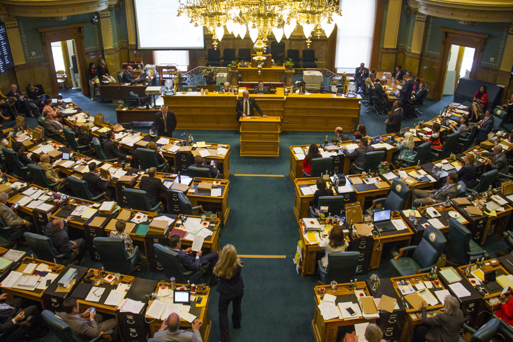 Scenes from the seat of government on the last day of the state legislative session.