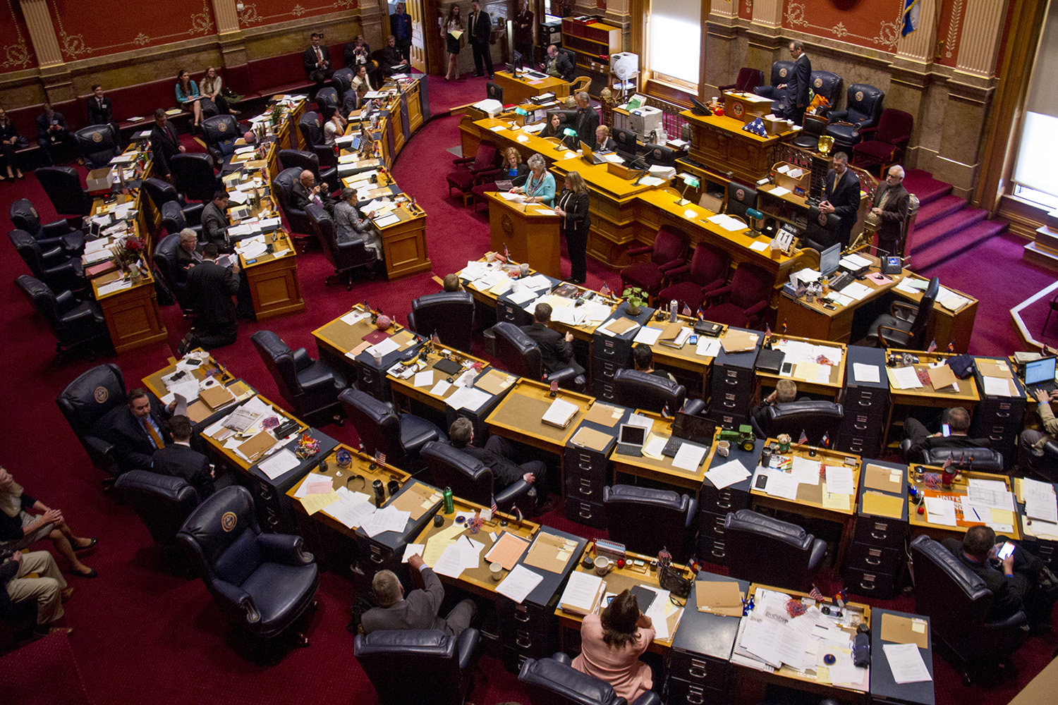 Scenes from the seat of government on the last day of the state legislative session in 2016. (Kevin J. Beaty/Denverite)