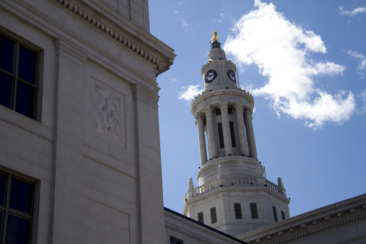 Views of Denver's City and County Building.