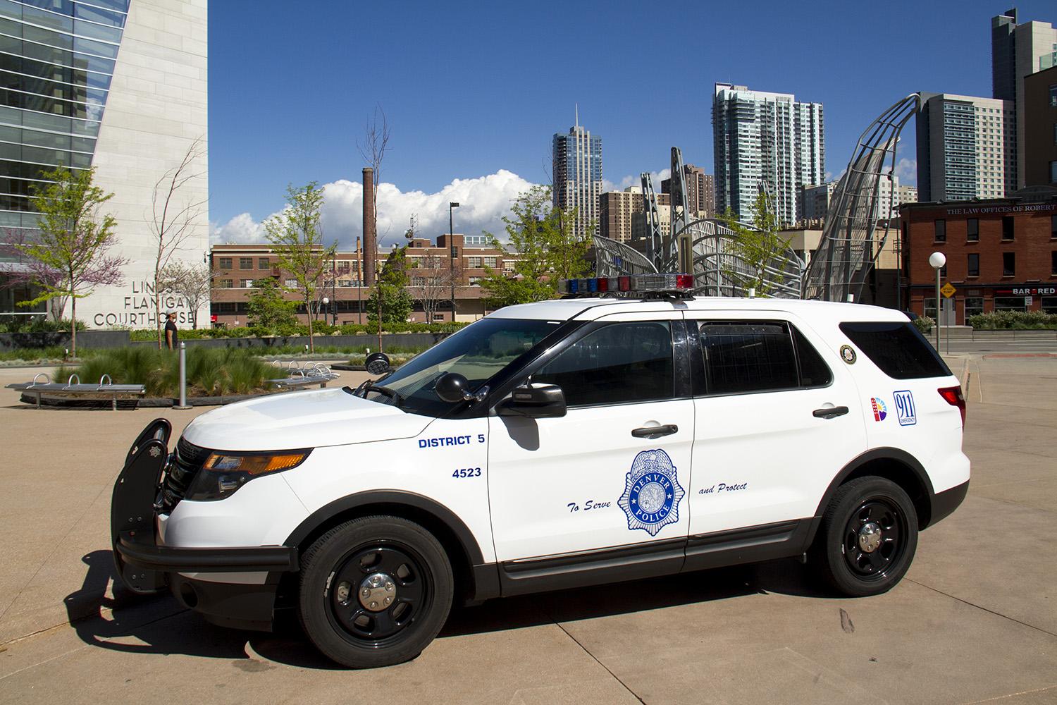 A Denver Police Department car.  denver; colorado; denverite; police; cops; kevinjbeaty
