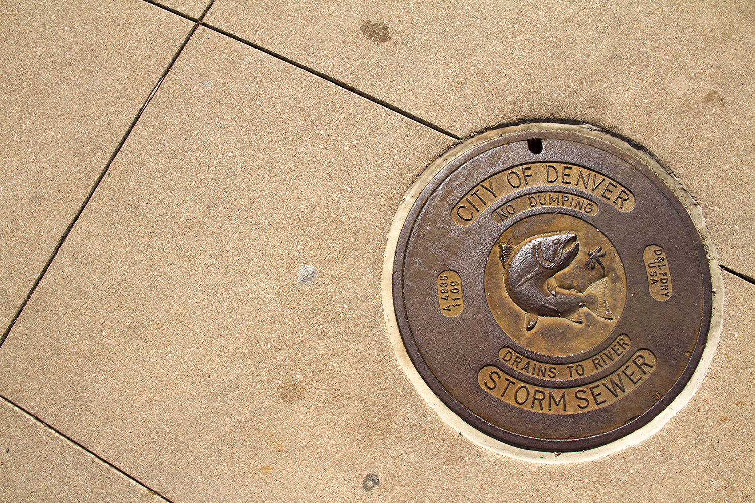 An illustrative storm drain.  denver; colorado; river; bridge; water; kevinjbeaty; denverite; platte; platte river