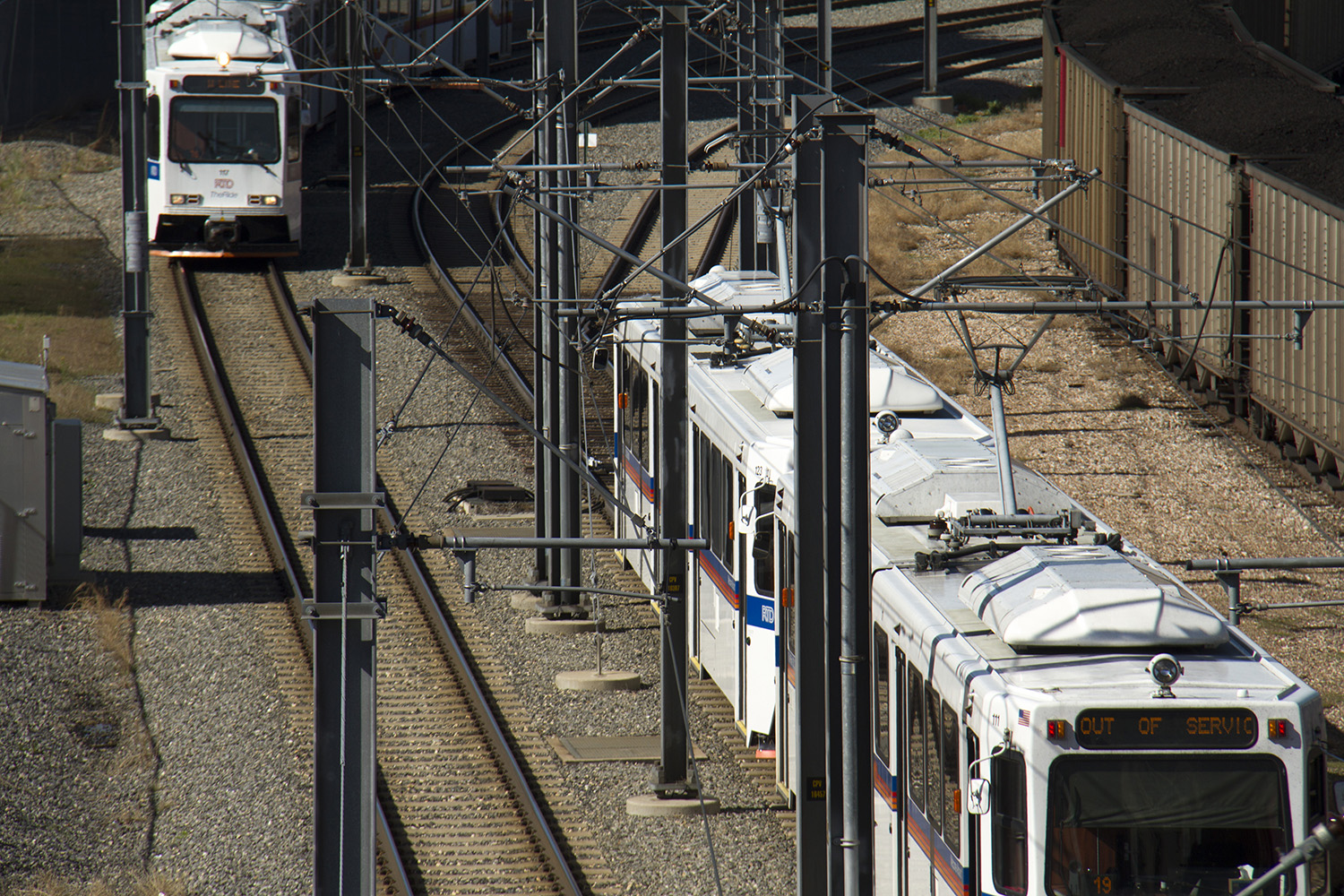 RTD light rail. (Kevin J. Beaty/Denverite)