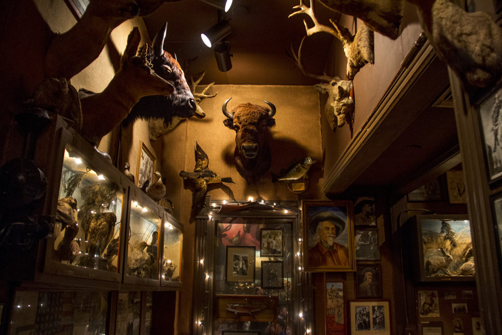 The Buckhorn Exchange, just beyond the 10th and Osage RTD stop. (Kevin J. Beaty/Denverite)  buckhorn exchange; light rail; train; transportation; bars; food; dining; drinks; denver; denverite; colorado; kevinjbeaty