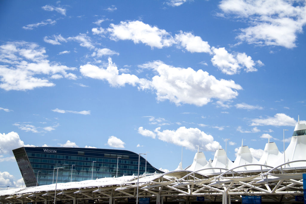 Denver International Airport and the new Westin hotel. (Kevin J. Beaty/Denverite)  dia; denver international airport; westin; hotel; moustache; aerotropolis; denver; denverite; colorado; kevinjbeaty