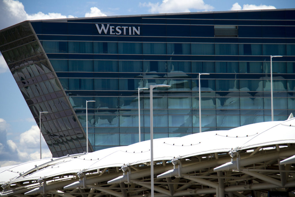 Denver International Airport and the new Westin hotel. (Kevin J. Beaty/Denverite)
