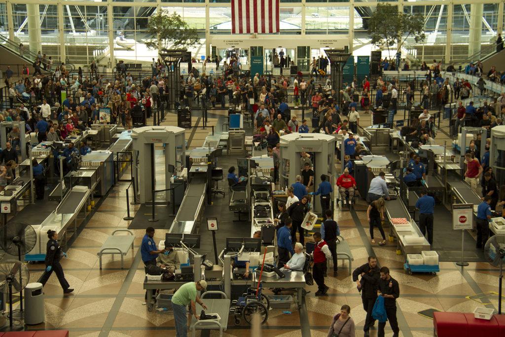 Security lines at DIA. (Kevin J. Beaty/Denverite)  dia; denver international airport; airport; tsa; security; lines; denver; denverite; colorado; kevinjbeaty