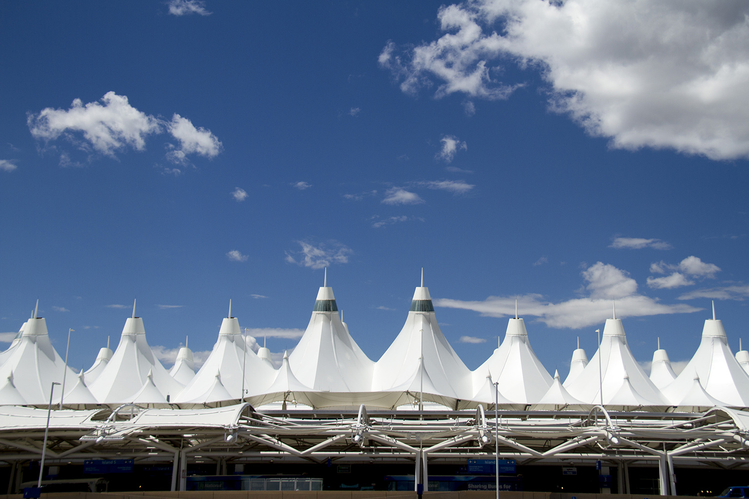 Denver International Airport's iconic pitched roof. (Kevin J. Beaty/Denverite)  dia; denver international airport; aerotropolis; denver; denverite; colorado; kevinjbeaty