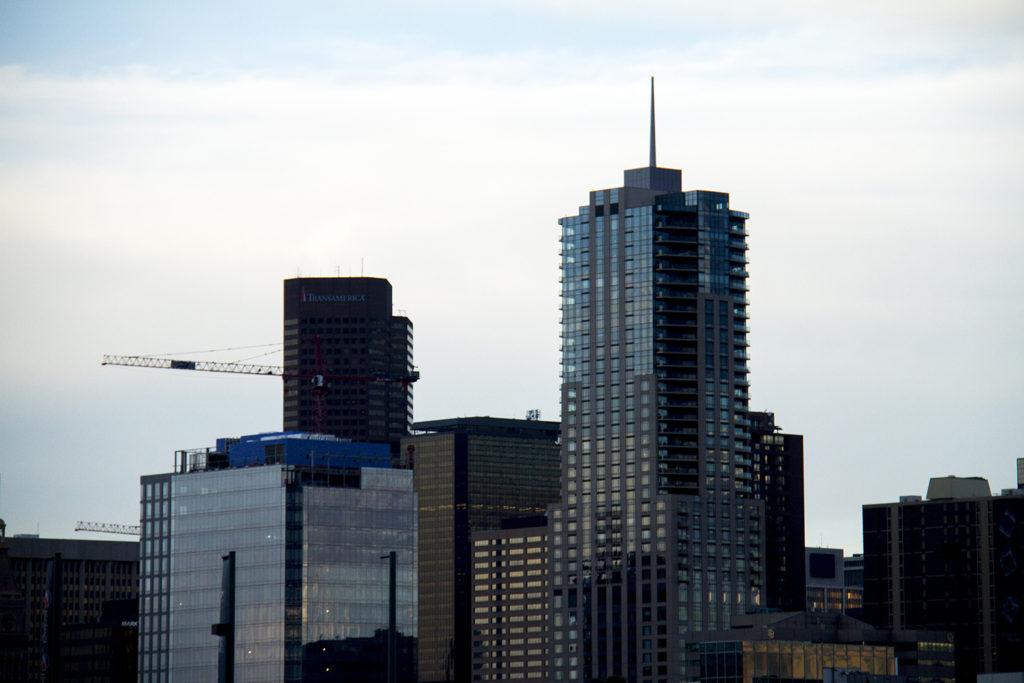 A Denver skyline. (Kevin J. Beaty/Denverite)  skyline; cityscape; downtown; denver; denverite; colorado; kevinjbeaty