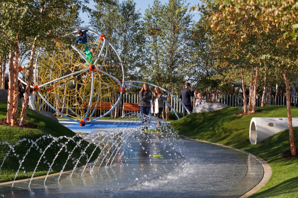 Children's Play Area. Courtesy of Klyde Warren Park.