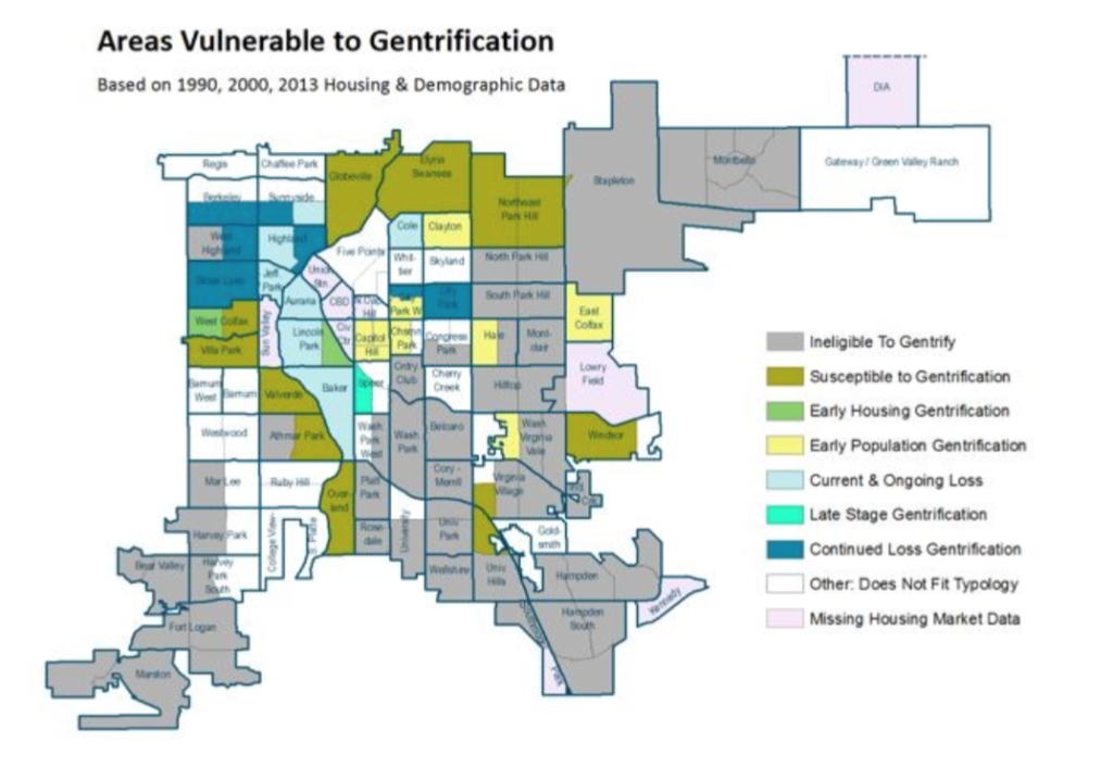 Denver gentrification. Courtesy city of Denver.