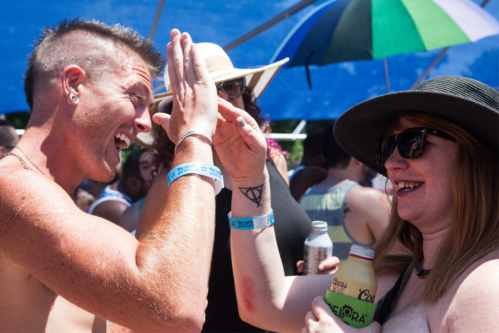 Not all was somber at Denver Pride 2016--attendees grooved to electronic music at Pride's Dance World. (Chloe Aiello/Denverite)