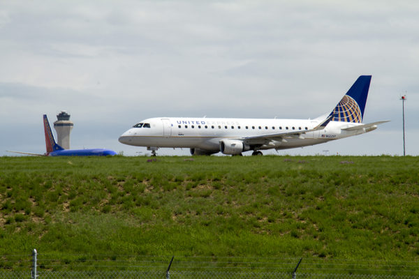 Flights at DIA. (Kevin J. Beaty/Denverite)  a line; dia; denver international airport; train; rtd; denver; colorado; kevinjbeaty; denverite;