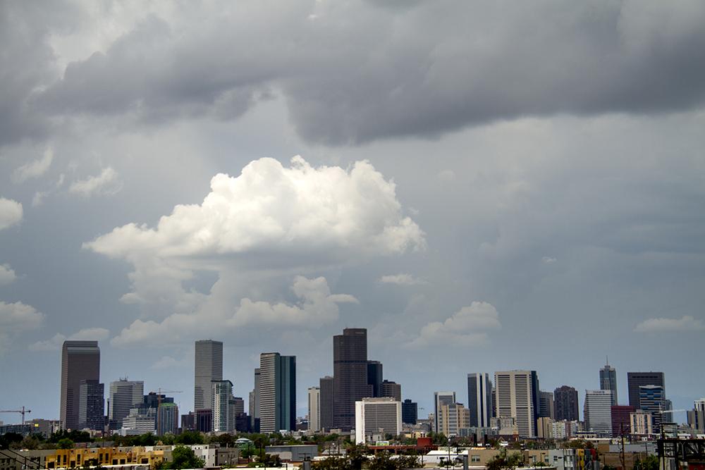 Denver. (Kevin J. Beaty/Denverite)  skyline; cityscape; denver; colorado; kevinjbeaty; denverite;