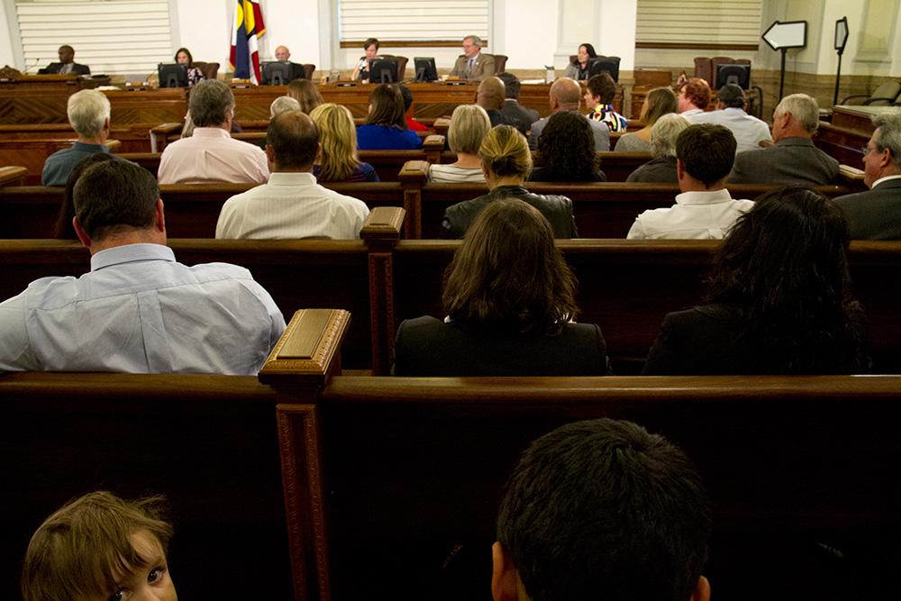 A Denver City Council meeting. (Kevin J. Beaty/Denverite)