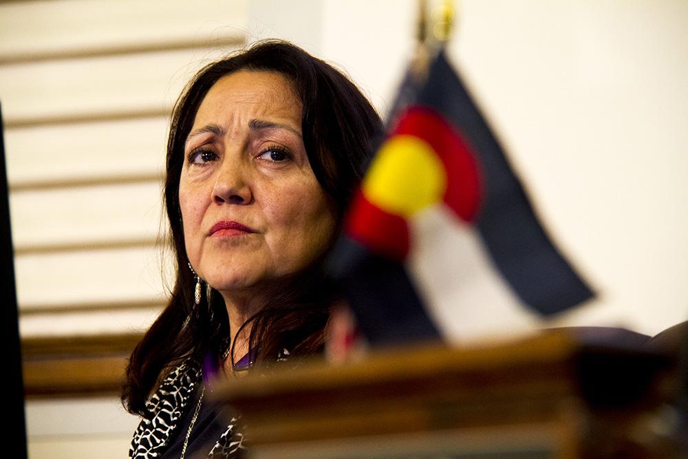 Denver City Councilwoman Debbie Ortega at a meeting. (Kevin J. Beaty/Denverite)  city council; civic center; city and county building; politics; government; kevinjbeaty; denver; denverite; colorado;