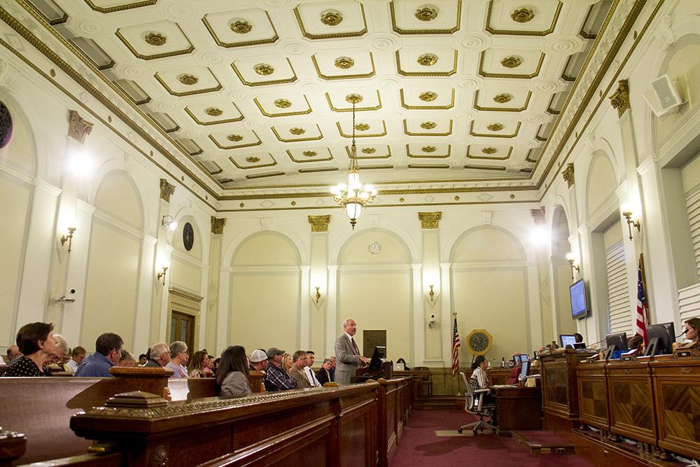 A Denver City Council meeting. (Kevin J. Beaty/Denverite)  city council; civic center; city and county building; politics; government; kevinjbeaty; denver; denverite; colorado;