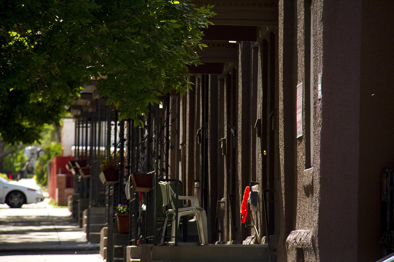 Highland townhomes. (Kevin J. Beaty/Denverite)  home; residential; townhome; highland; denverite; denver; colorado; kevinjbeaty