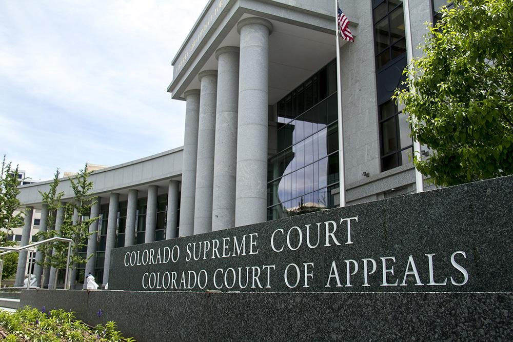 The Ralph L. Carr Judicial Center, home of the Colorado Supreme Court. (Kevin J. Beaty/Denverite)  colorado supreme court; justice; law; civic center; denver; kevinjbeaty;