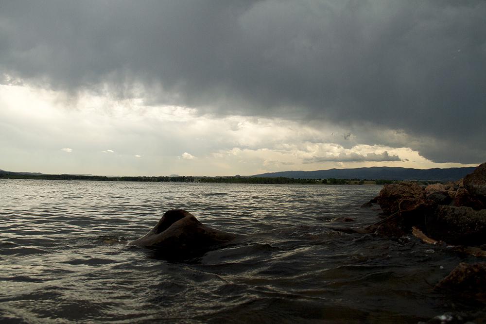 Moody skies over Chatfield Reservoir. (Kevin J. Beaty/Denverite)  chatfield; reservoir; water; lake; denver; littleton; denverite; kevinjbeaty
