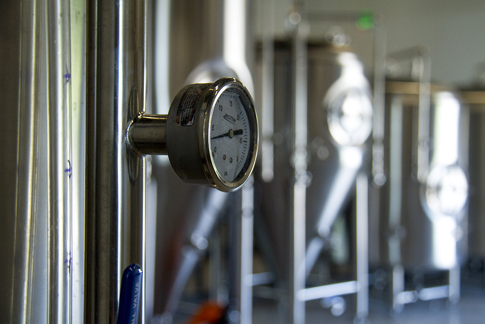 Brewery vats at Bruz Beers in Twin Lakes. (Kevin J. Beaty/Denverite)  beer; brewery; bruz; twin lakes; denver; colorado; food; kevinjbeaty; denverite;