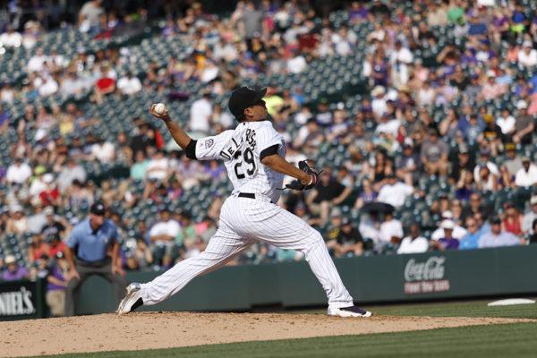 Jorge De La Rosa. Colorado Rockies vs. Pittsburgh Pirates Coors Field, June 9, 2016. (Jessica Taves/For Denverite)  colorado rockies; baseball; sports; jessica taves; denver; colorado; denverite