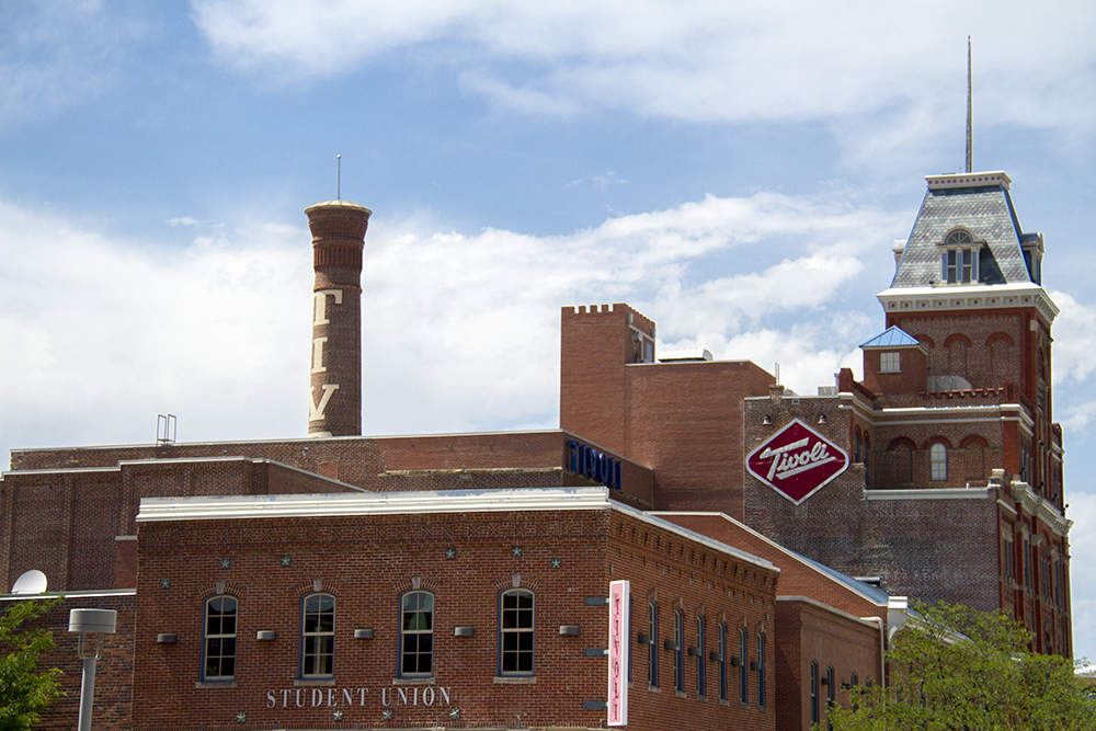 The Tivoli Student Union and Brewery, the heart of the Auraria Campus that serves the University of Colorado Denver, Metropolitan State University of Denver, and the Community College of Denver. (Kevin J. Beaty/Denverite)