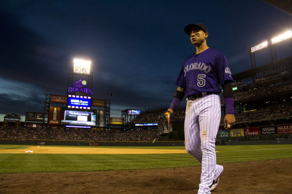 Carlos Gonzalez. Colorado Rockies vs San Diego Padres. June 10, 2016.  (Kevin J. Beaty/Denverite)  colorado rockies; baseball; sports; coors field; denver; colorado; denverite