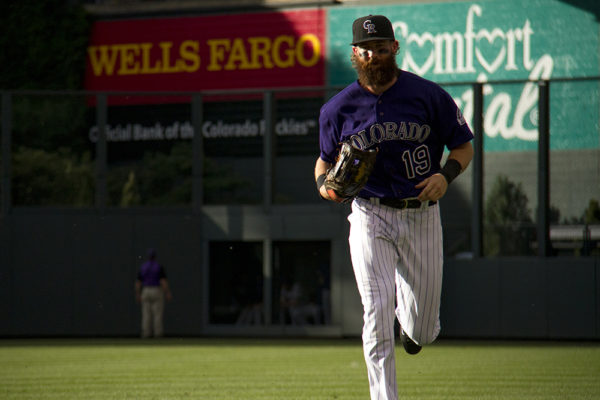 Charlie Blackmon. Colorado Rockies vs San Diego Padres. June 10, 2016.  (Kevin J. Beaty/Denverite)  rockies; colorado; baseball; denver; coors field; jon gray; kevinjbeaty; denverite;