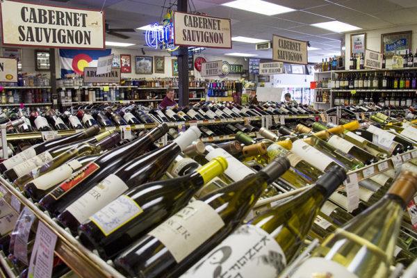 Logan Liquors in Denver's Speer neighborhood. (Kevin J. Beaty/Denverite)  logan liquors; retail; beer; kevinjbeaty; denverite; denver; colorado;