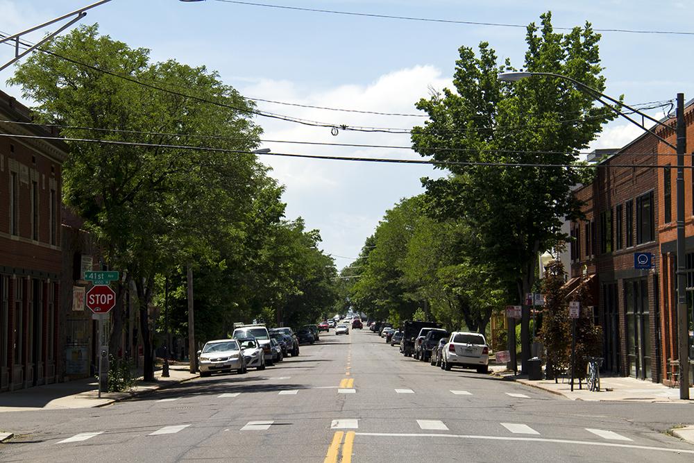 A mainstreet-like block at Tejon and 41st in Sunnyside. (Kevin J. Beaty/Denverite)  sunnyside; north side; denver; colorado; kevinjbeaty; denverite