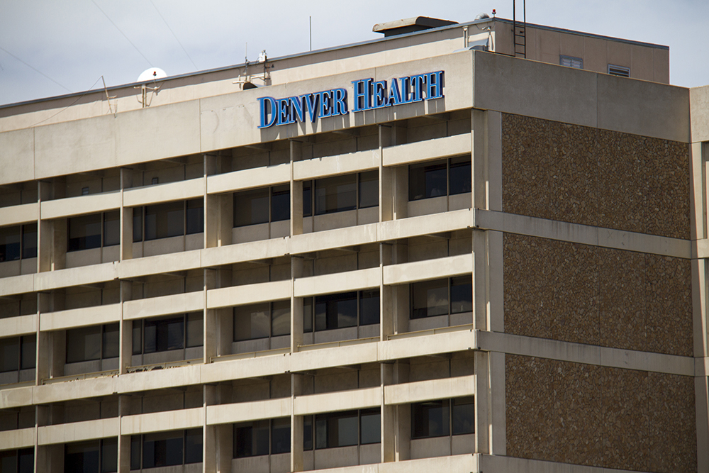 Denver Health on Bannock in Lincoln Park. (Kevin J. Beaty/Denverite)