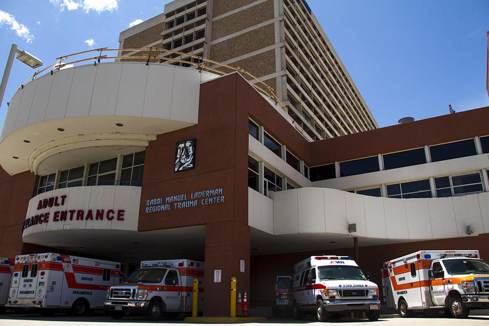 Denver Health on Bannock in Lincoln Park. (Kevin J. Beaty/Denverite)  denver health; hospital; healthcare; denver; denverite; kevinjbeaty; colorado;