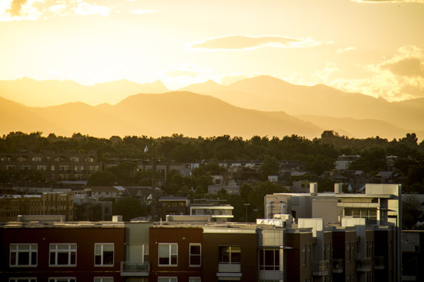 Sunset over the Highlands. (Kevin J. Beaty/Denverite)  highland; sunset; evening; weather; summer; kevinjbeaty; denver; denverite; colorado;