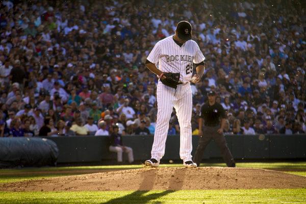 Jorge De La Rosa.  Colorado Rockies vs New York Yankees. June 14, 2016.  (Kevin J. Beaty/Denverite)  colorado rockies; baseball; sports; coors field; denver; colorado; denverite