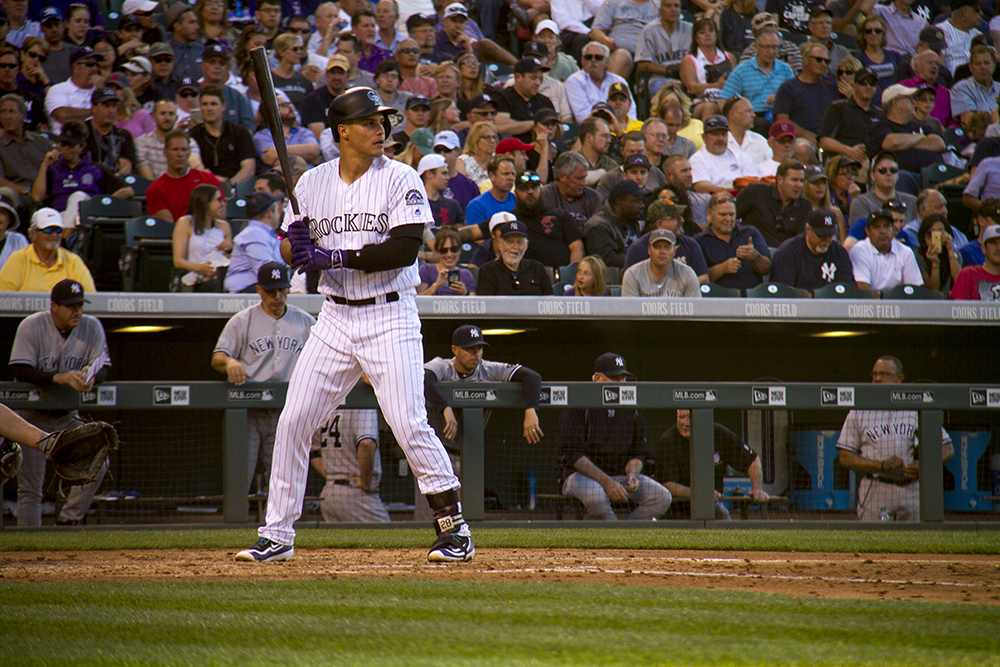 Nolan Arenado. Colorado Rockies vs New York Yankees. June 14, 2016.  (Kevin J. Beaty/Denverite)  colorado rockies; baseball; sports; coors field; denver; colorado; denverite