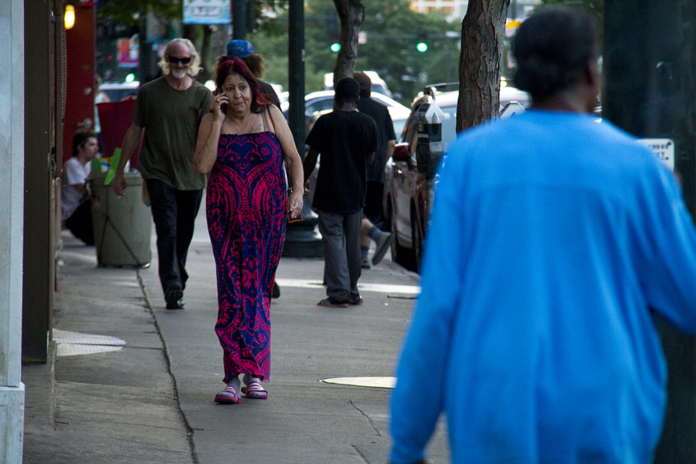 Pedestrians on Colfax. (Kevin J. Beaty/Denverite)  colfax; pedestrians; sidewalk; capitol hill; kevinjbeaty; denver; denverite; colorado;