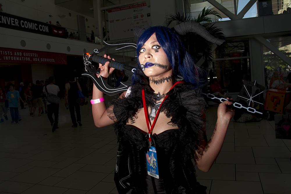 Vanessa Padilla AKA Nabi, the Kingdom Hearts boss of her own invention. Denver Comic Con on June 19, 2016. (Kevin J. Beaty/Denverite)  denver comic con; convention center; denver; colorado; denverite; kevinjbeaty