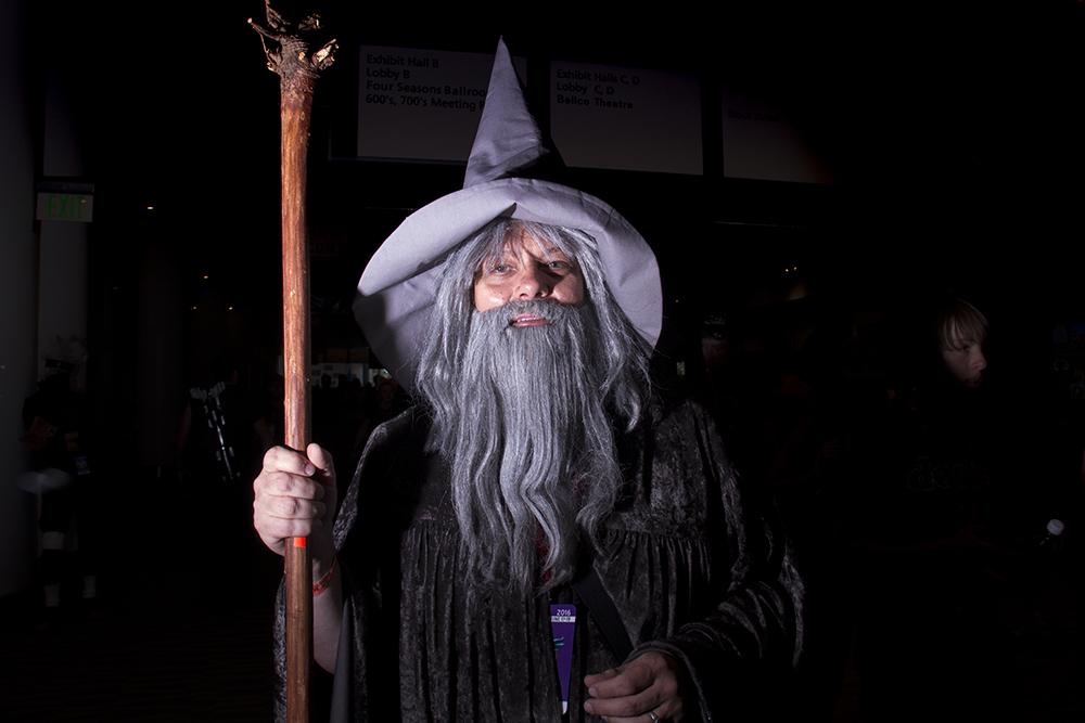 Lee Myers as Gandalf the Grey. Denver Comic Con on June 19, 2016. (Kevin J. Beaty/Denverite)  denver comic con; convention center; denver; colorado; denverite; kevinjbeaty