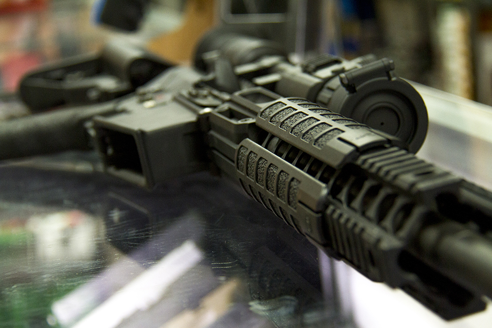 An AR-15 at Hammer Down Firearms in Wheat Ridge. (Kevin J. Beaty/Denverite)
