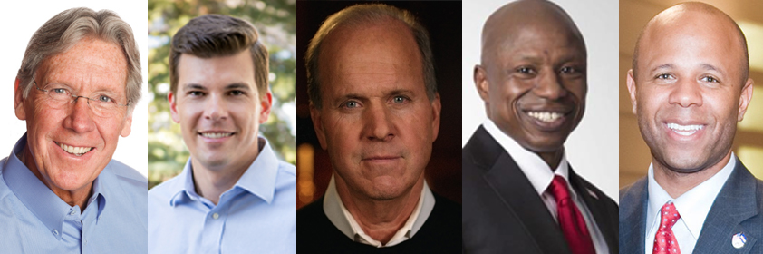The five republican US Senate candidates for Colorado. (Courtesy Photos and Creative Commons)