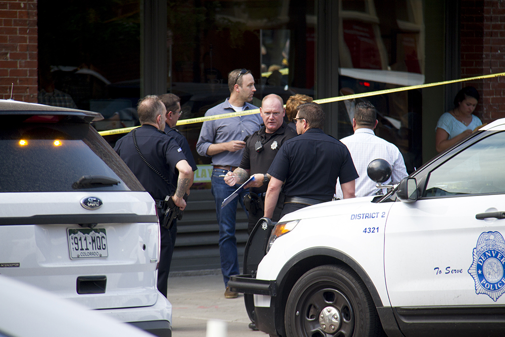 15th an Wynkoop. June 29, 2016. (Kevin J. Beaty/Denverite)  crime scene; lodo; union station; shooting; kevinjbeaty; denver; denverite; colorado
