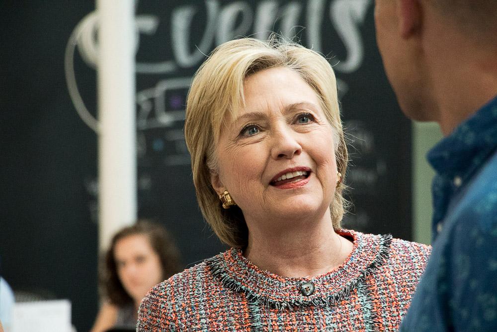 Hillary Clinton at in Denver in June 2016. (Chloe Aiello/Denverite)