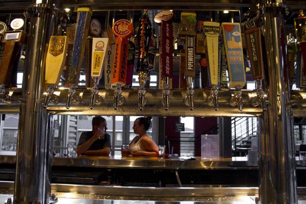 Taps abound at Globeville's Crafty Fox. (Kevin J. Beaty/Denverite)  food; beer; bars; taps; denver; colorado; kevinjbeaty; denverite;