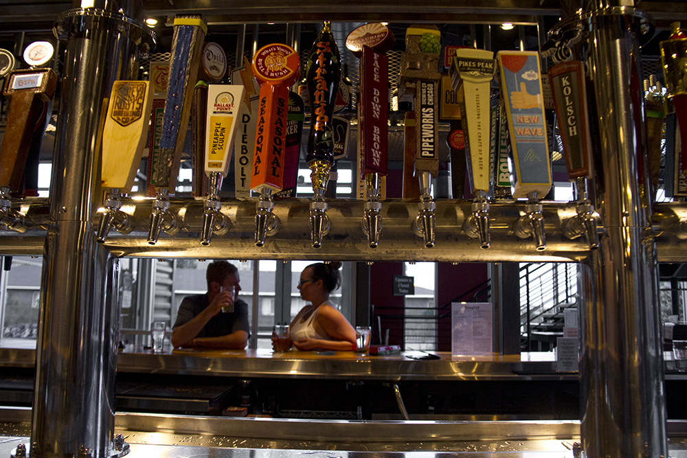 Taps abound at Globeville's Crafty Fox. (Kevin J. Beaty/Denverite)  food; beer; bars; taps; denver; colorado; kevinjbeaty; denverite;