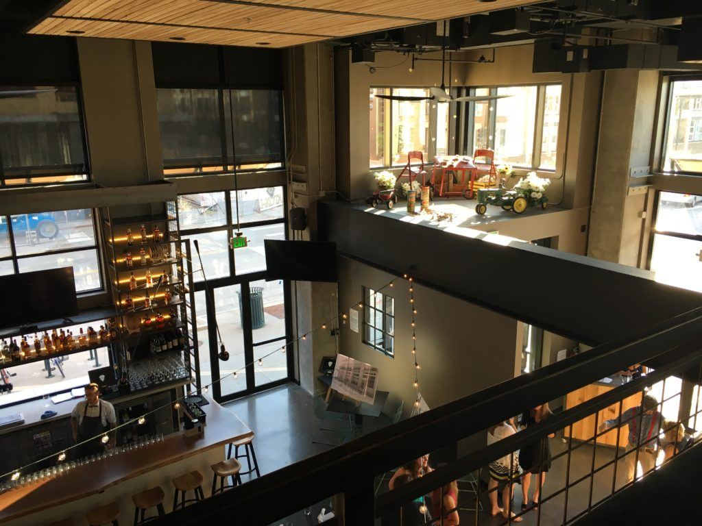 Inside The Pig & The Sprout, a new restaurant near Union Station. (Ashley Dean/Denverite)