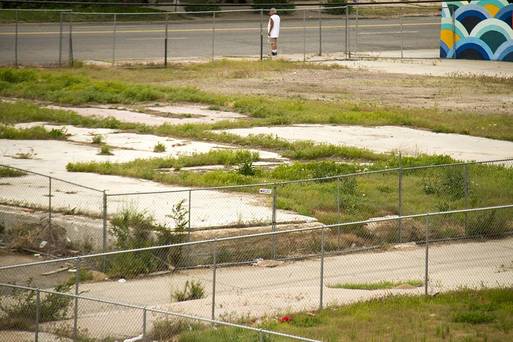 A vacant lot at 38th and Blake. (Kevin J. Beaty/Denverite)  38th and blake; five points; RiNo; development; kevinjbeaty; denver; denverite; colorado;