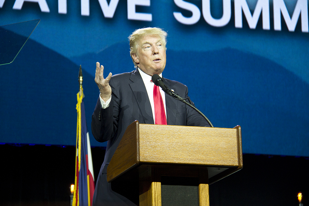 Donald Trump at the Western Conservative Conference 2016. (Kevin J. Beaty/Denverite)