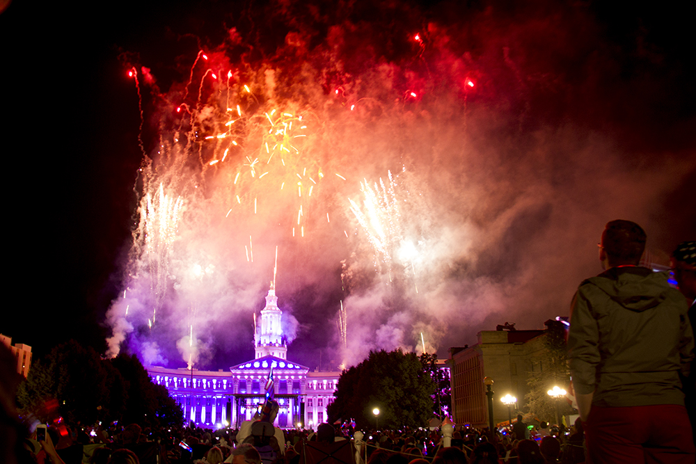 Fireworks on July 3, or Independence Day Eve. 2016. (Kevin J. Beaty/Denverite)